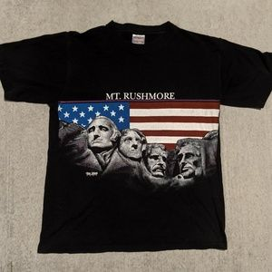 Vintage Mt Rushmore Shirt Large USA 90s 80s